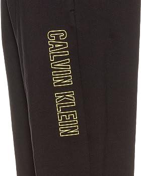 Calvin Klein - Pantalones de chándal para Hombre, Negro y Amarillo ...