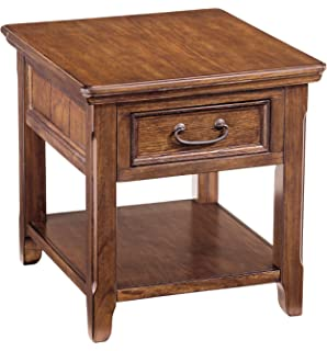 Great Ashley Furniture Signature Design   Woodboro Chair Side End Table   Rustic  Style Accent Table