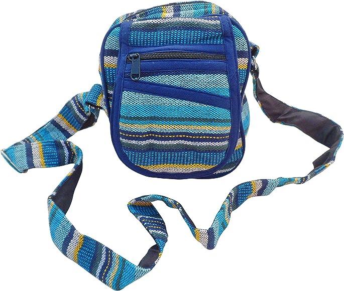 FAIR TRADE COTTON GHERI HIPPY BOHO SHOULDER BEACH TRAVEL BAG