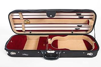 Estuche para Violín Madera Delux 4/4 M Rojo M-Case: Amazon ...