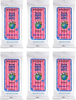 product image for Earthbath 6 Pack of Ultra-Mild Puppy Grooming Wipes, 28 Count Each, Wild Cherry Scented