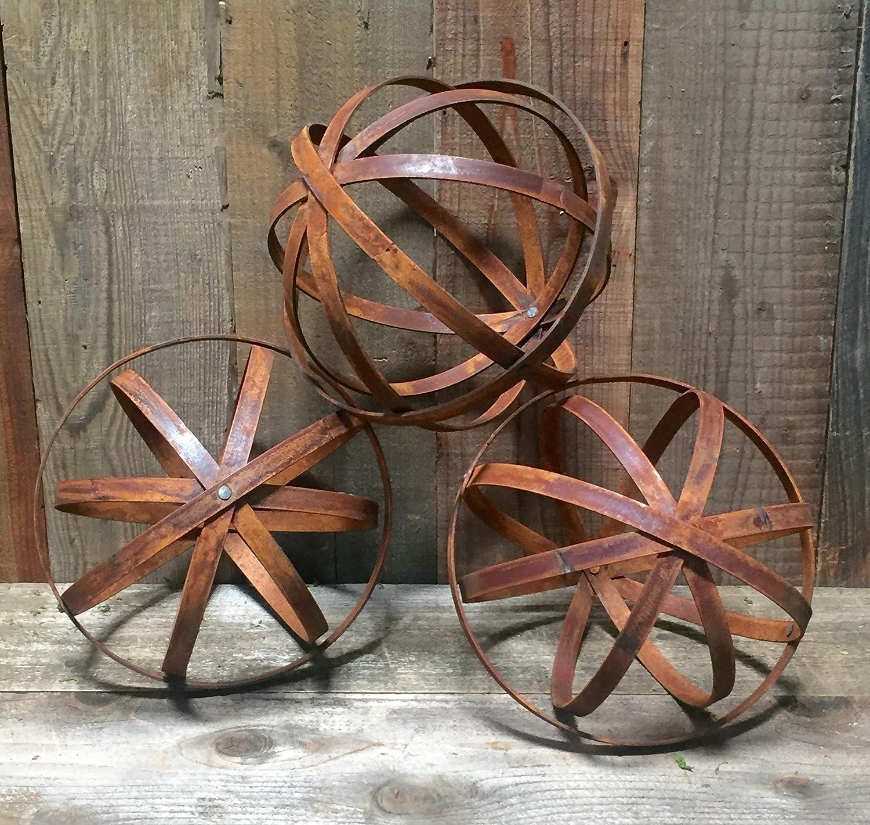 Amazon.com : Steel Topiary Garden Spheres - Handmade Decorative Lawn ...