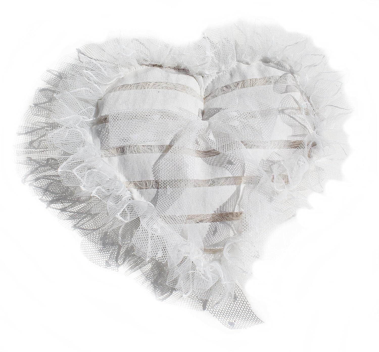 Corazón de cojín para alianzas Shabby Chic Vintage ...