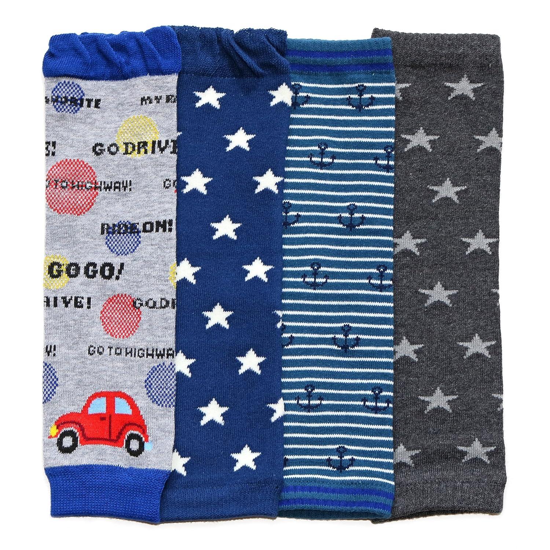 Dotty Fish - multipacks bambino leggero - Ragazze e ragazzi - Pacchetti di 4 con disegni divertenti e colorati stelle e ancorarsi FBA-LW401-CARS