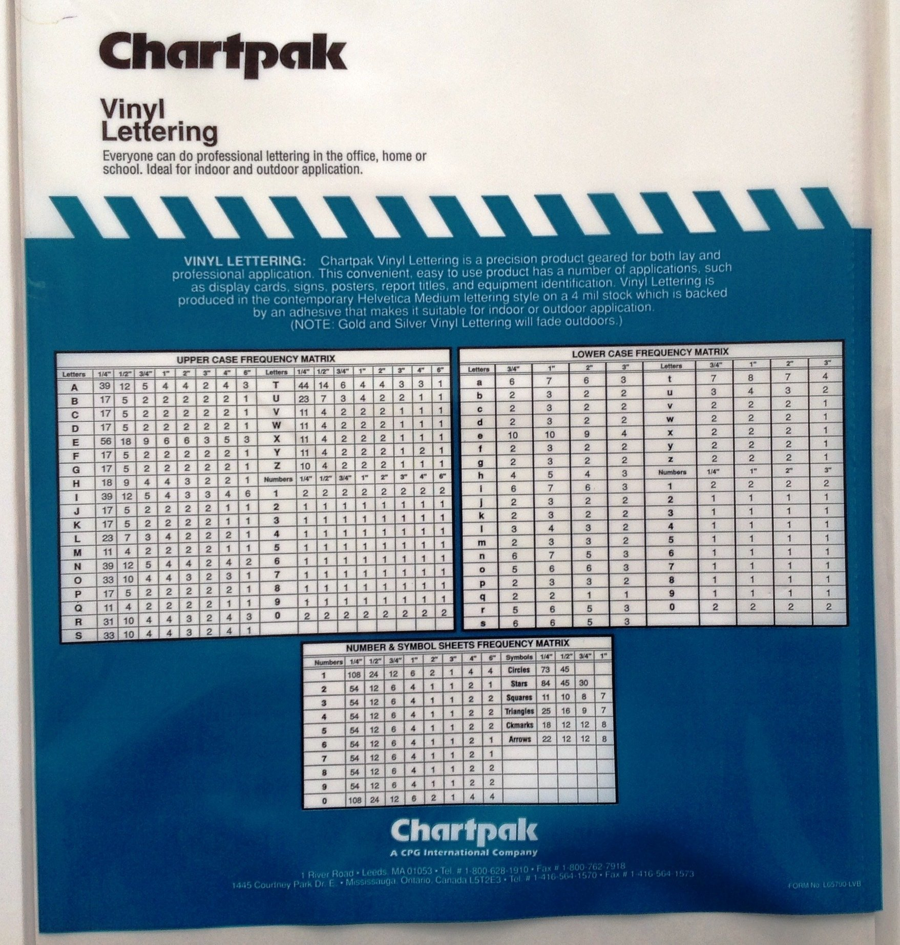 Chartpak 3-inch Black Stick-on Vinyl Numbers (01170), 3 PACKS by Chartpak (Image #2)
