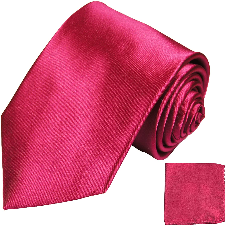 P.M. Krawatten Paul Malone Corbata de seda rosa + pañuelo: Amazon ...