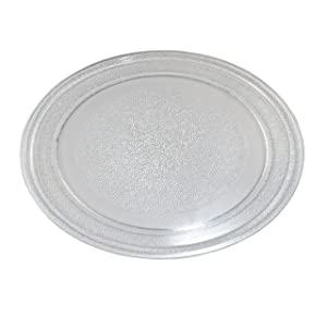 HQRP 9-5/8 inch Glass Turntable Tray for Sunbeam SBM7700B SBM7700W SGDJ701 SGS90701B01 SMO7O1A7E SM07O1A7E SMO701A7E 3390W1A035 SM0701A7E Microwave Oven Cooking Plate 245mm + HQRP Coaster