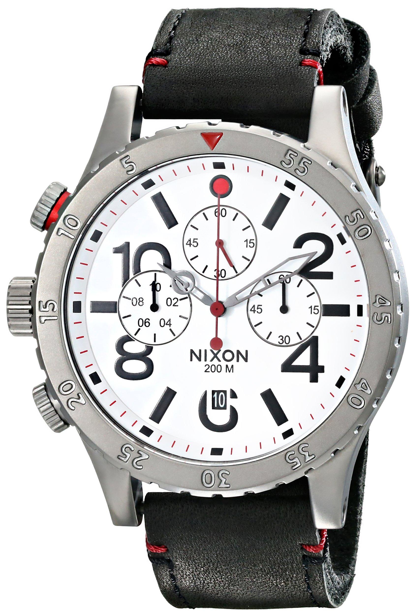 Nixon Men's A363486 48-20 Chrono Leather Watch