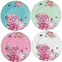Royal Albert Blessings, Joy, Gratitude and Devotion Tidbit Plates Designed by Miranda Kerr, 3.9-Inch, Set of 4