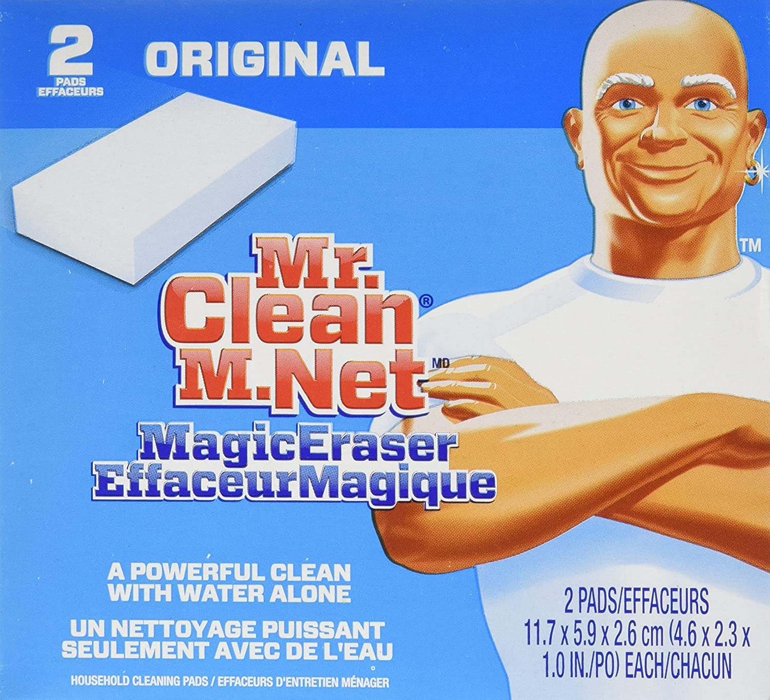 Mr Clean Magic Eraser Original 2 Count Packaging May Vary