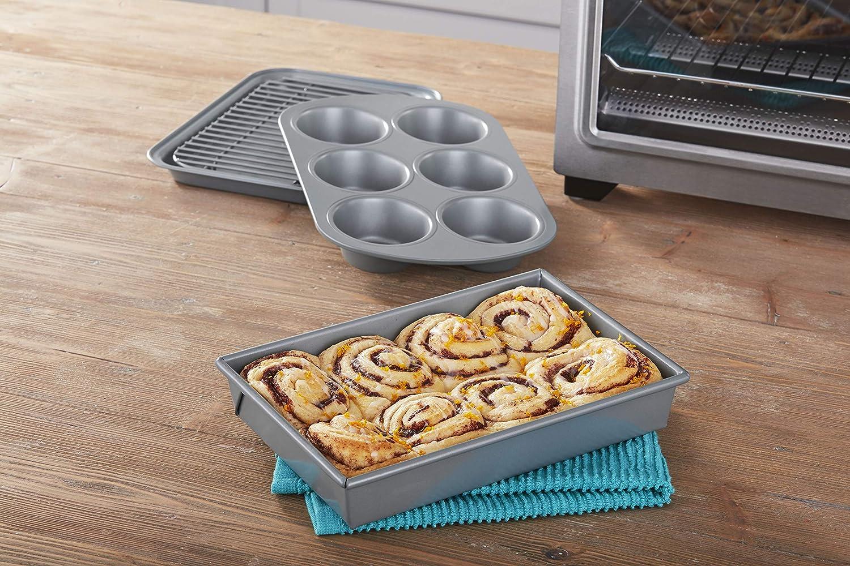 Non-Stick 4-Piece Toaster Oven Bakeware Set
