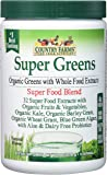 Country Farms Super Green Drink Mix, Natural, 9.88 Ounce (Packaging may vary)