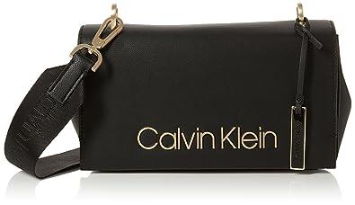 70a89f9e7c0 Calvin Klein Jeans Ck Candy Shoulder, Women's Cross-Body Bag, Black,  12x19x27