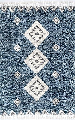 nuLOOM Rogue Modern Shag Rug, 3 x 5 , Blue