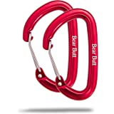 Bear Butt Aluminum Wire Gate Carabiner - Small & 7 Ounces - Holds 2200 Pounds - 8 Color Sets to Style Your Hammock Set Up With - Start Up Company