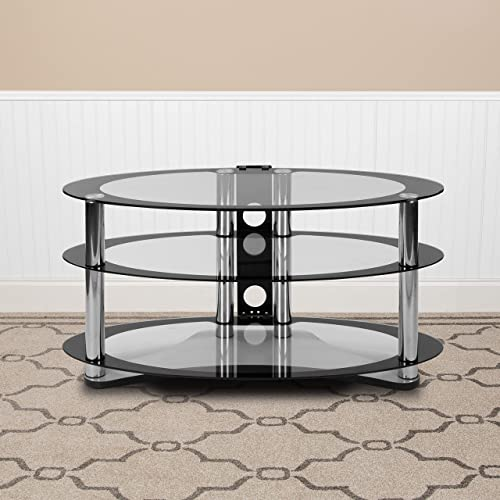 Flash Furniture Westchester Two-Tone Glass TV Stand