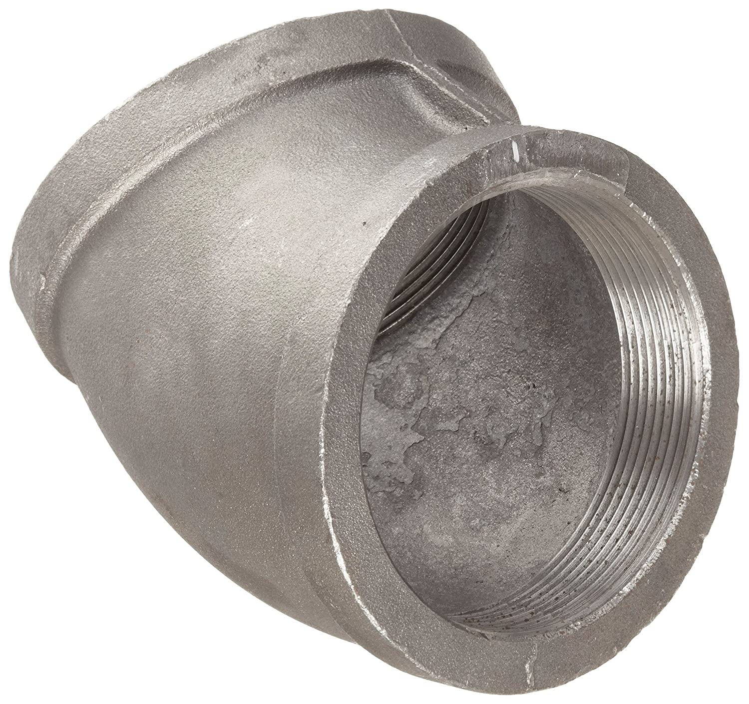 Black Finish Malleable Iron Pipe Fitting 45 Degree Elbow 1 NPT Female Anvil 8700126256