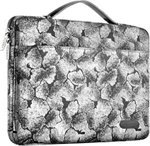 Hseok Laptop Sleeve 15 15.6 16 Inch Case Briefcase, Compatible MacBook Pro 16 15.4 inch, Surface Book 2/1 15 inch Spill-Resistant Handbag for Most Popular 15-16 inch Notebooks, Silver Jacquard