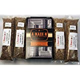 """A-MAZE-N PRODUCTS Pellet Smoker Combo Pack Includes 1 lb Each of Lumber Jack 100% Cherry, Hickory, Mesquite & 1lb Apple Blend, 5"""" L x 8"""" W"""