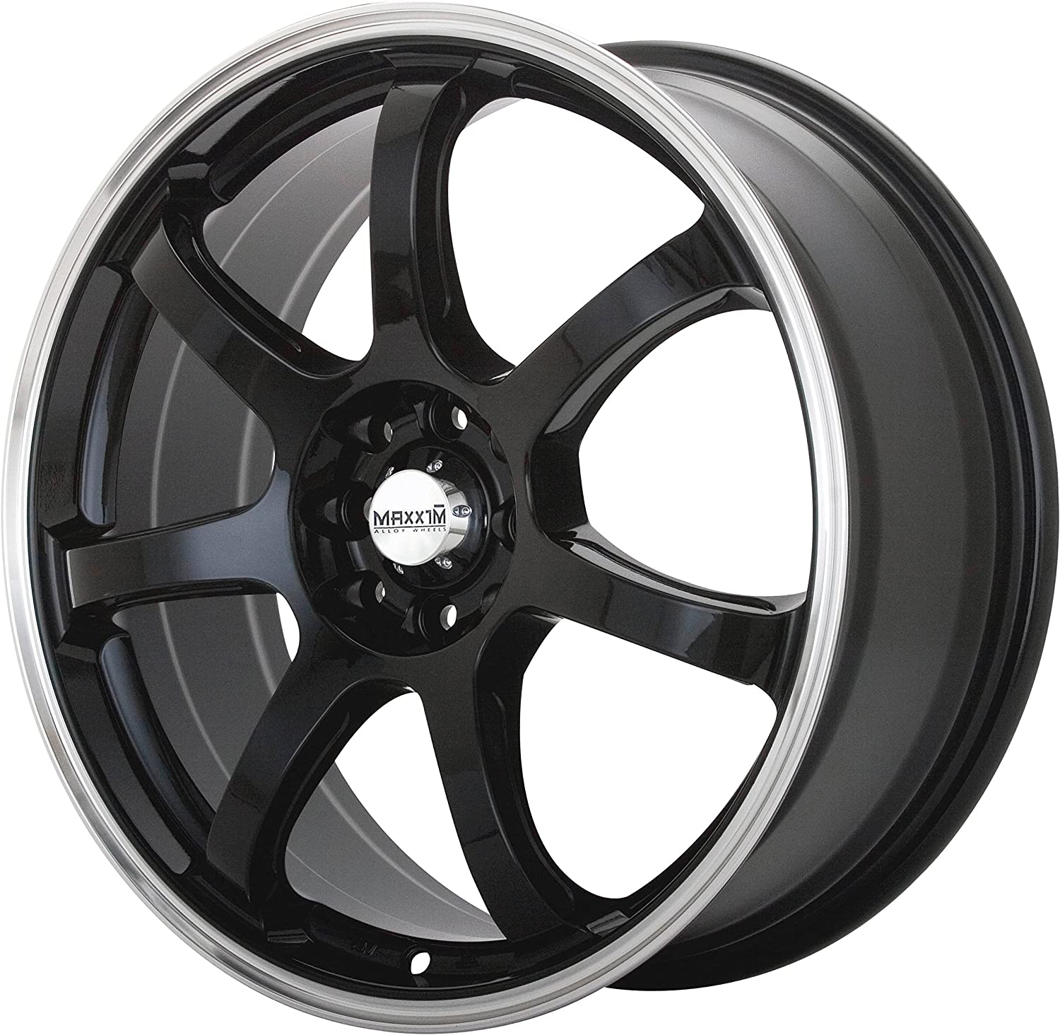 15x6.5//4x114.3mm Maxxim Knight Gloss Black Wheel