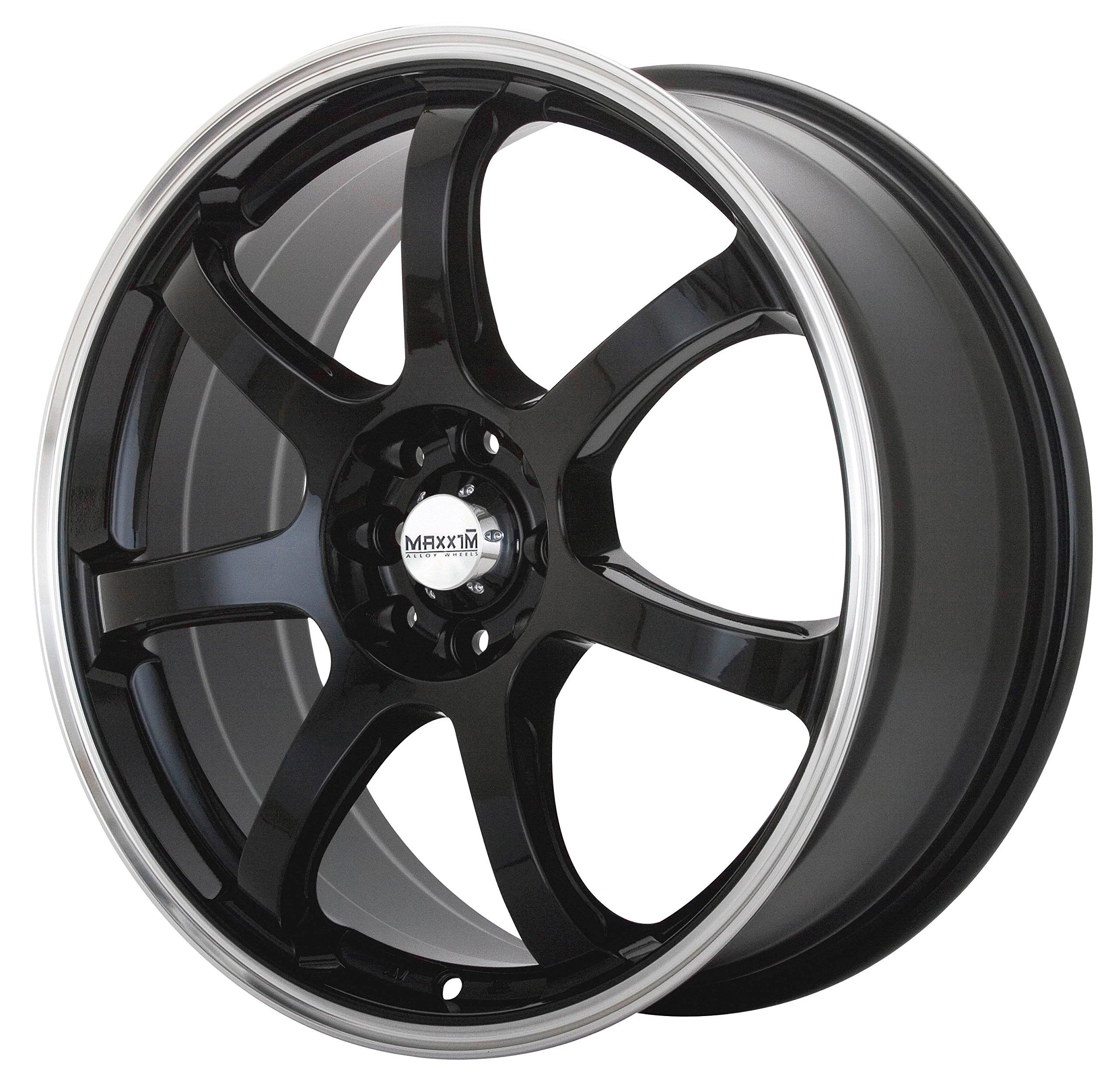 Maxxim Knight Black Wheel with Machined Lip (15x6.5''/5x100mm)