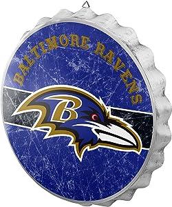 FOCO NFL Team Metal Distressed Bottlecap Wall Sign