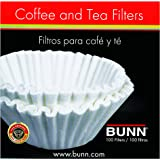 BUNN Coffee Filters, 10/12-Cup Size, 100 Filters/Pack,White