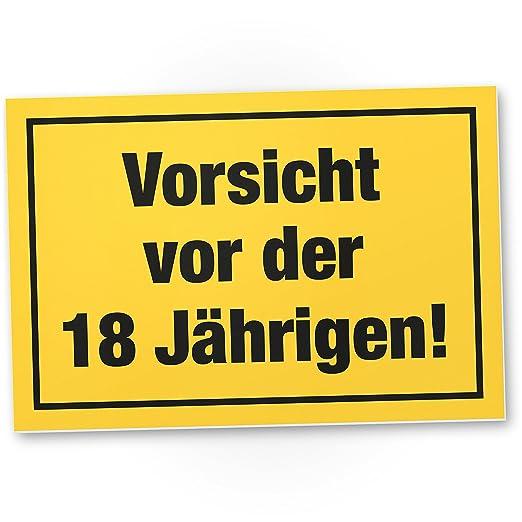 DankeDir!. Vorsicht Antes de 18 años, plástico Cartel - 18 ...