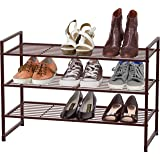 Simple Houseware 3-Tier Stackable Shoes Rack Storage Shelf, Bronze