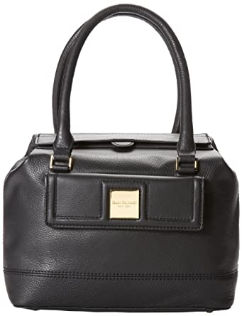 Isaac Mizrahi Andrea IM92189 Top Handle Bag,Black,One Size