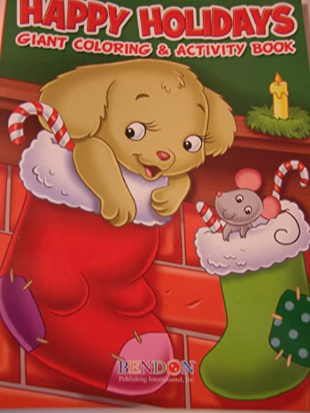 Happy Holidays 160 Page Giant Coloring And Activity Book Christmas Edition Puppy Mouse