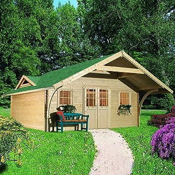 Caseta de jardín madera 26, 63 m2 GIRIONS 5 L588xP453xH333cm () 40 mm: Amazon.es: Jardín