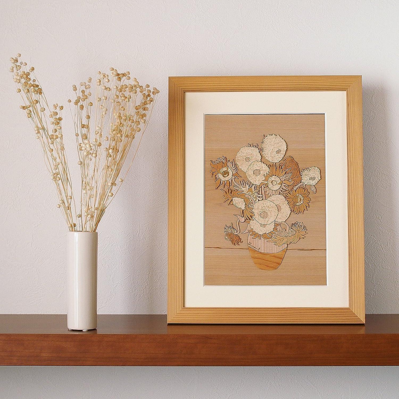 KINOWA Wooden Art Kit Kiharie Sunflowers Made in Japan