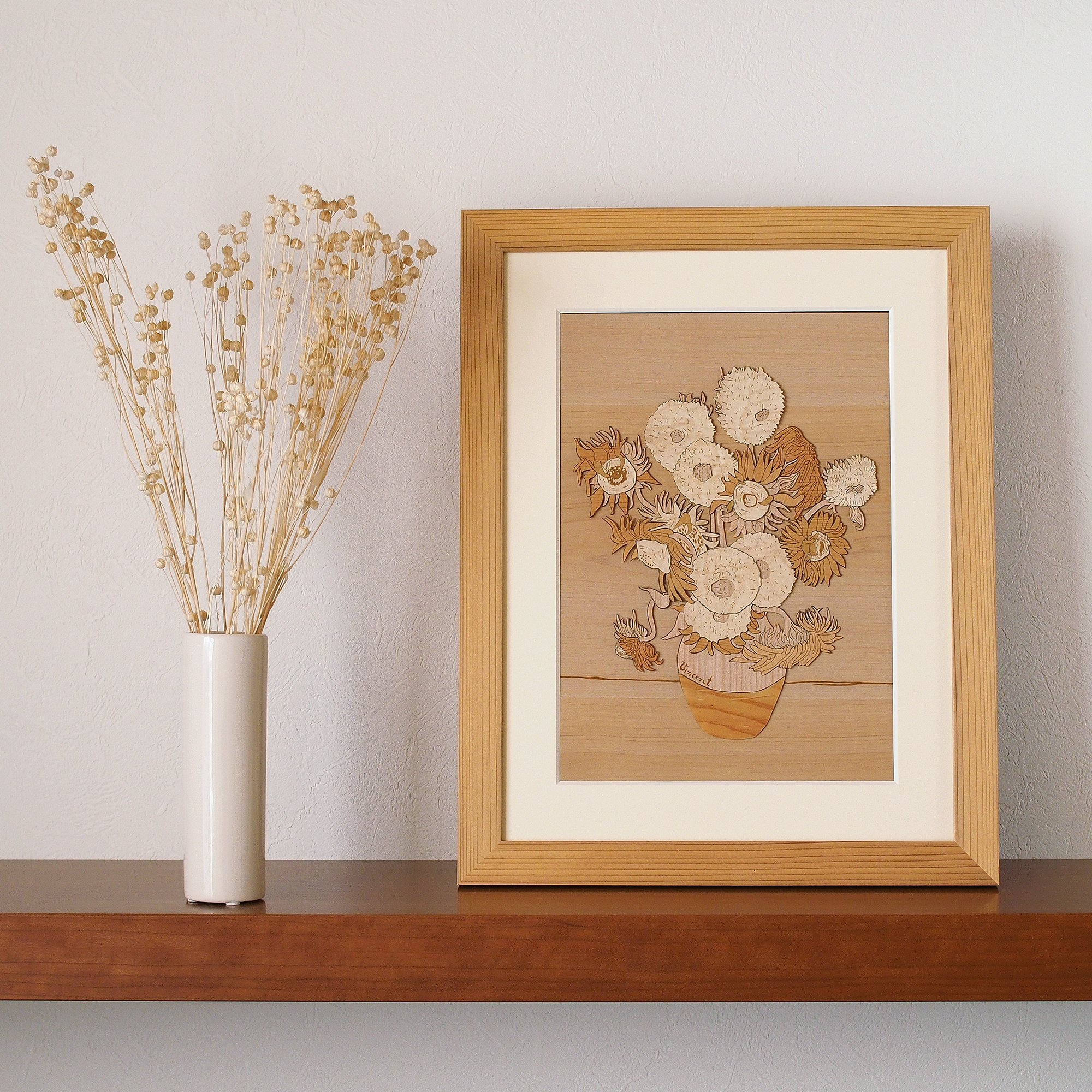 KINOWA Wooden Art Kit Kiharie Sunflowers Made in Japan by KINOWA (Image #6)