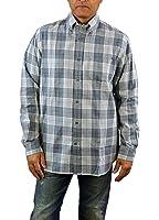 Hart Schaffner Marx Mens Long Sleeve Woven Shirt Medium, Grey