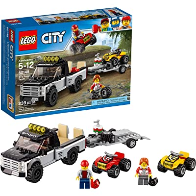 LEGO City ATV Race Team 60148 Building Kit with Toy Truck and Race Car Toys (239 Pieces): Toys & Games