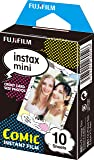 Instax Mini Comic 10pk Film Suitable for Instax Mini Cameras Including 7S,25, 50S, 8, 70 & 90, Also Share Printer SP-2