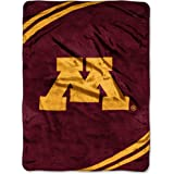 NCAA Minnesota Gophers Force Royal Plush Raschel Throw Blanket, 60x80-Inch