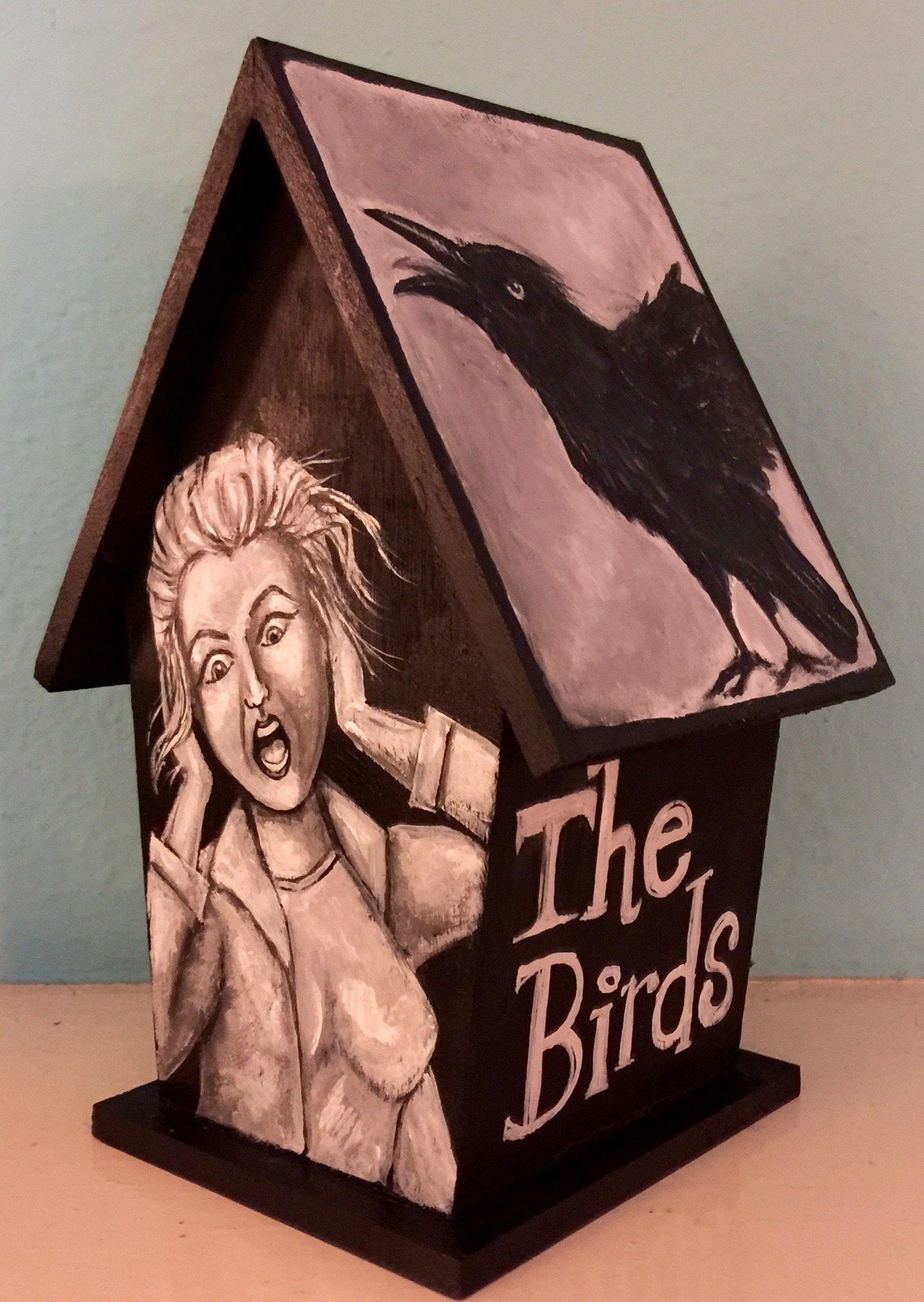 Decorative Alfred Hitchcock The Birds Horror Movie Birdhouse