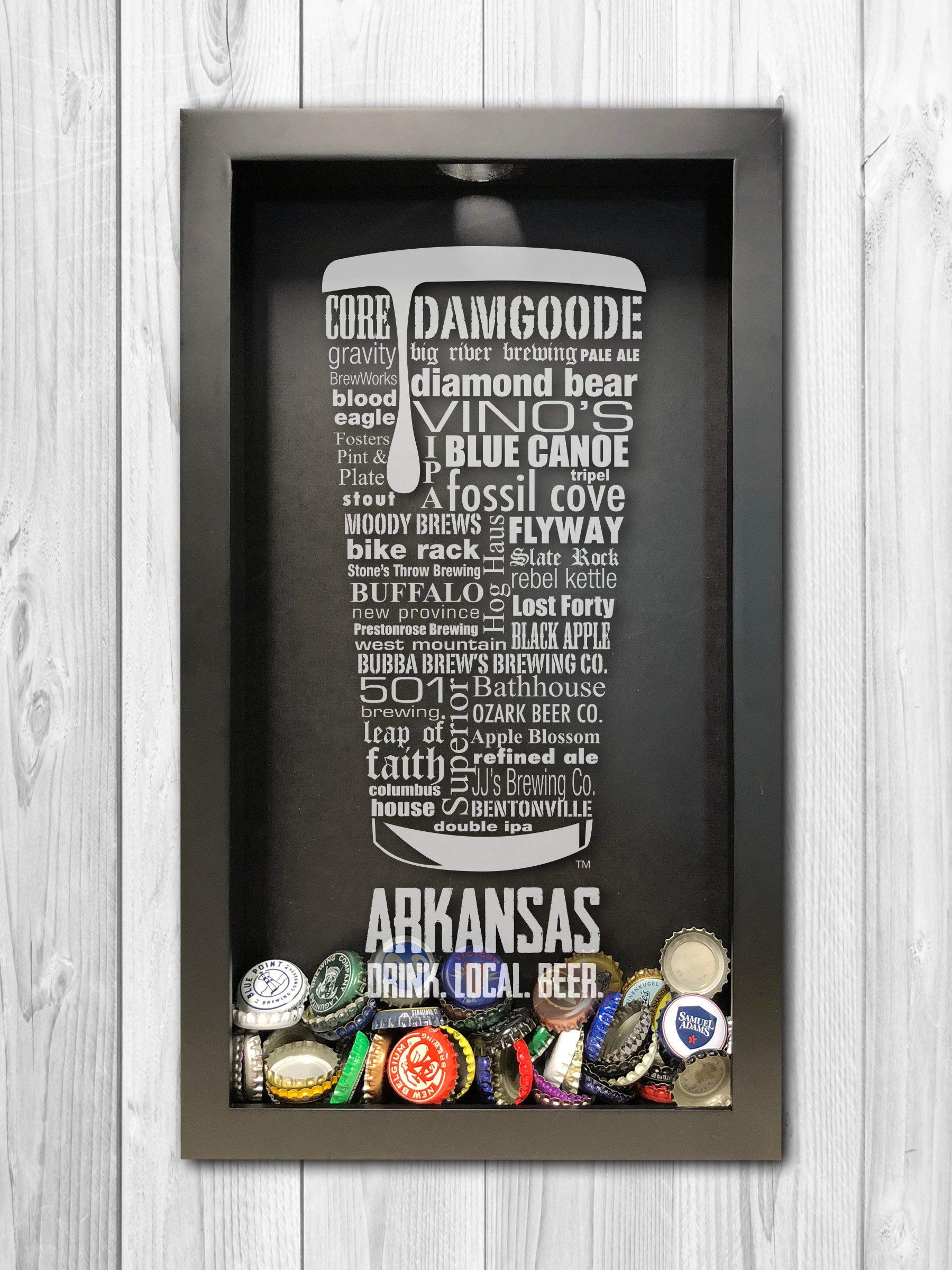 Arkansas Shadow Box, Typography Print Shadow Box Art, Arkansas Wall Art