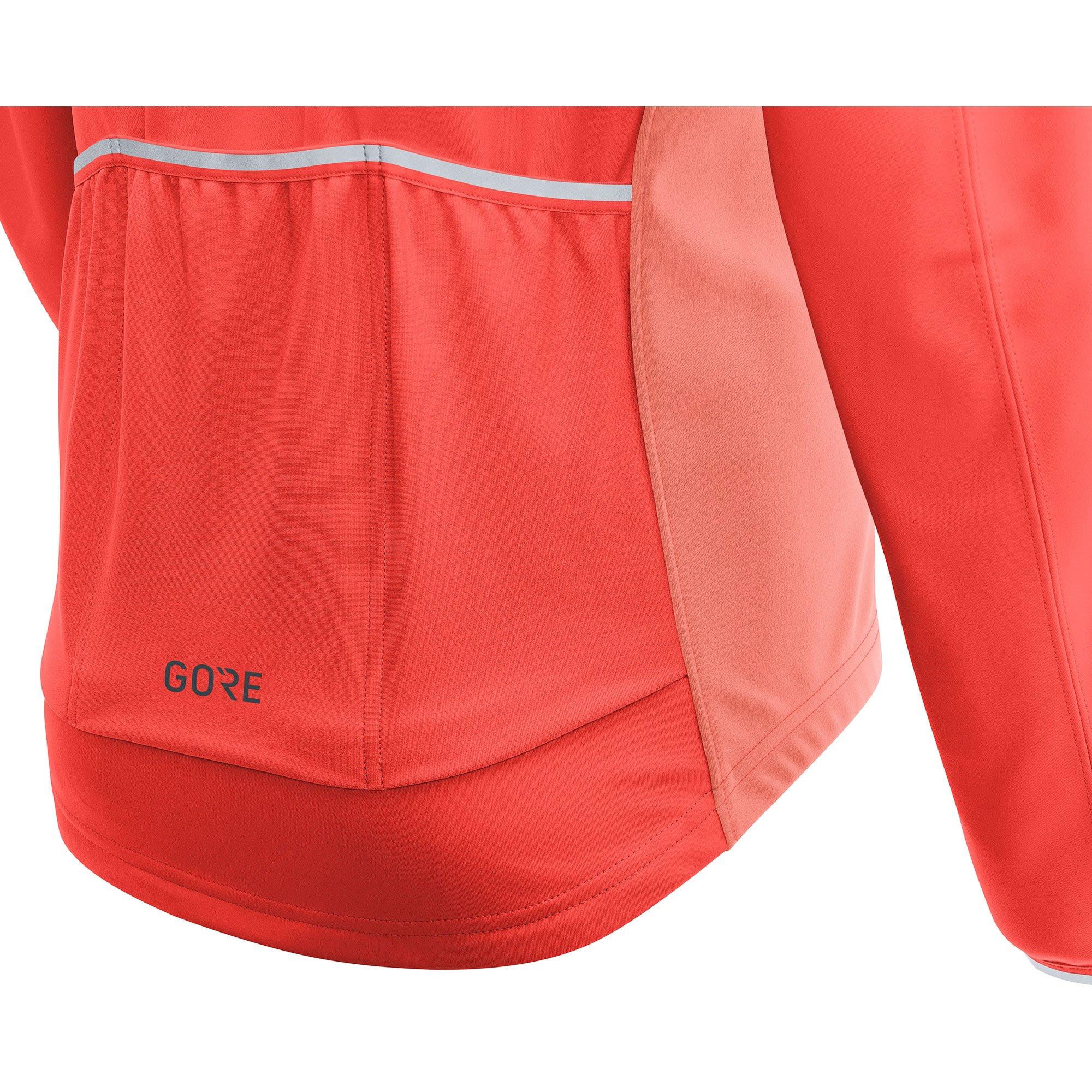 GORE Wear Women's Windproof Cycling Jacket, Removable Sleeves, GORE Wear C3 Women's GORE Wear WINDSTOPPER Phantom Zip-Off Jacket, Size: L, Color: Lumi Orange/Coral Glow, 100191 by GORE WEAR (Image #8)