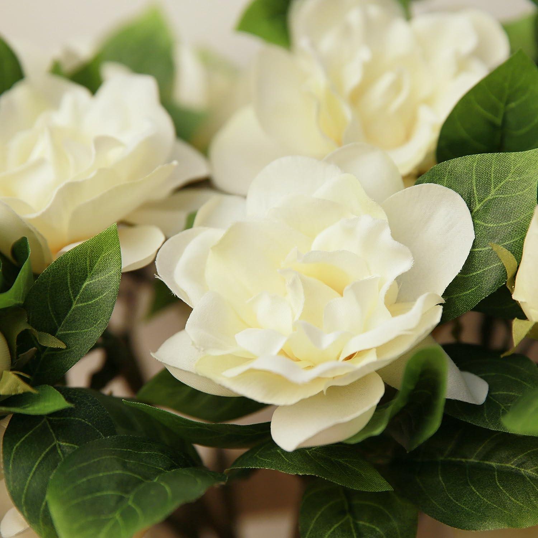 Amazon Coobl Artificial Silk Flower Senior Decoration Gardenia