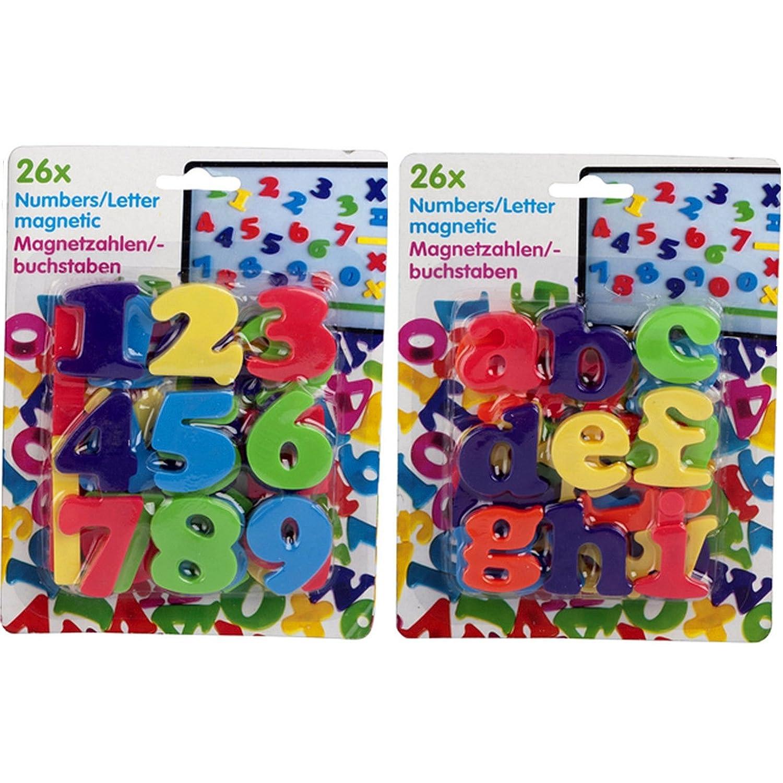 Eddy Toys 52er Juego Multicolor Imanes Letras y Números ABC 123 ...