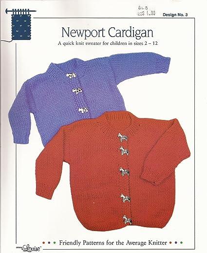 Amazon Newport Cardigan Design By Louise Knitting Pattern 3
