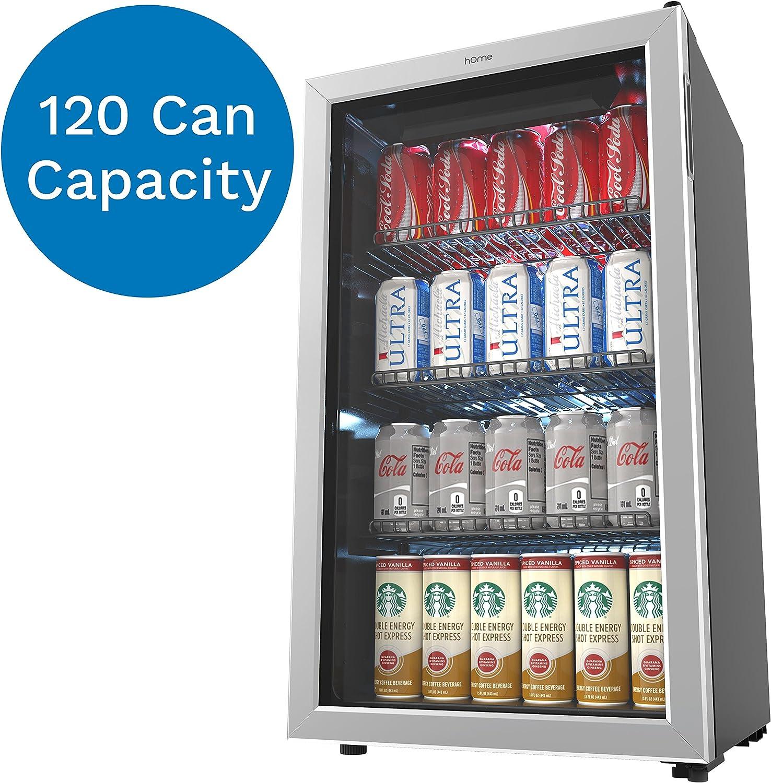 hOmeLabs refrigerador y enfriador de bebidas – Mini nevera de 120 ...