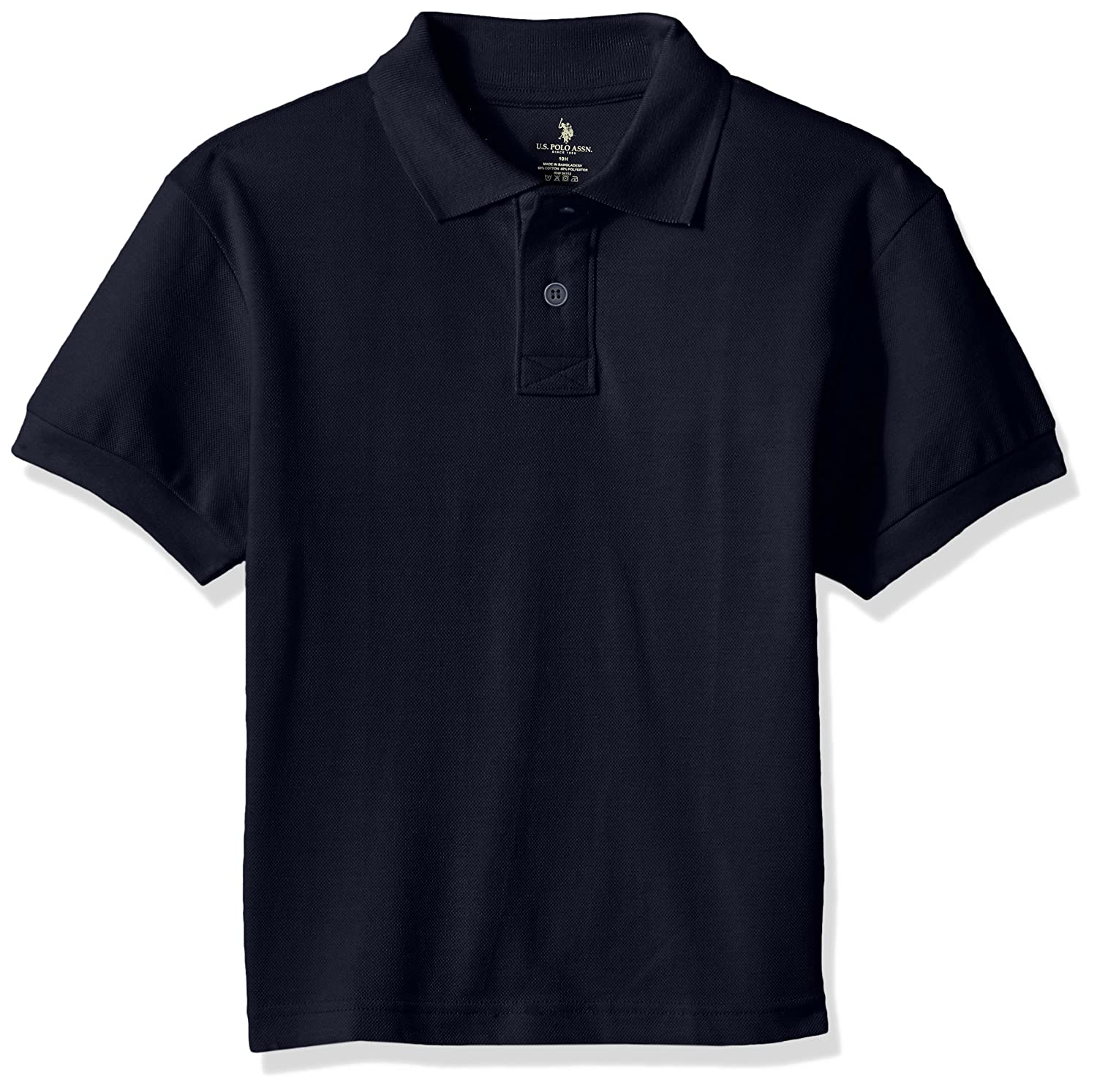 U.S. Polo Assn. Boys' Polo Shirt (More Styles Available), Classic Navy, 14H T96617NA