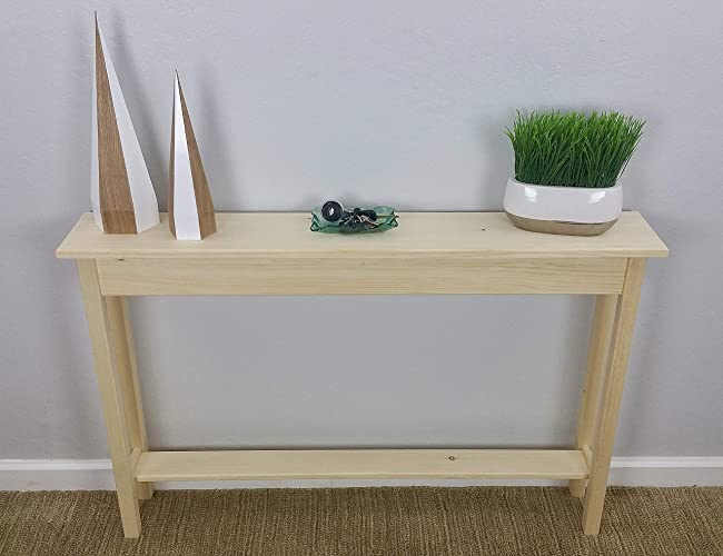 46u0026quot; Unfinished Pine Narrow Wall, Foyer, Sofa, Console, Hall, Table