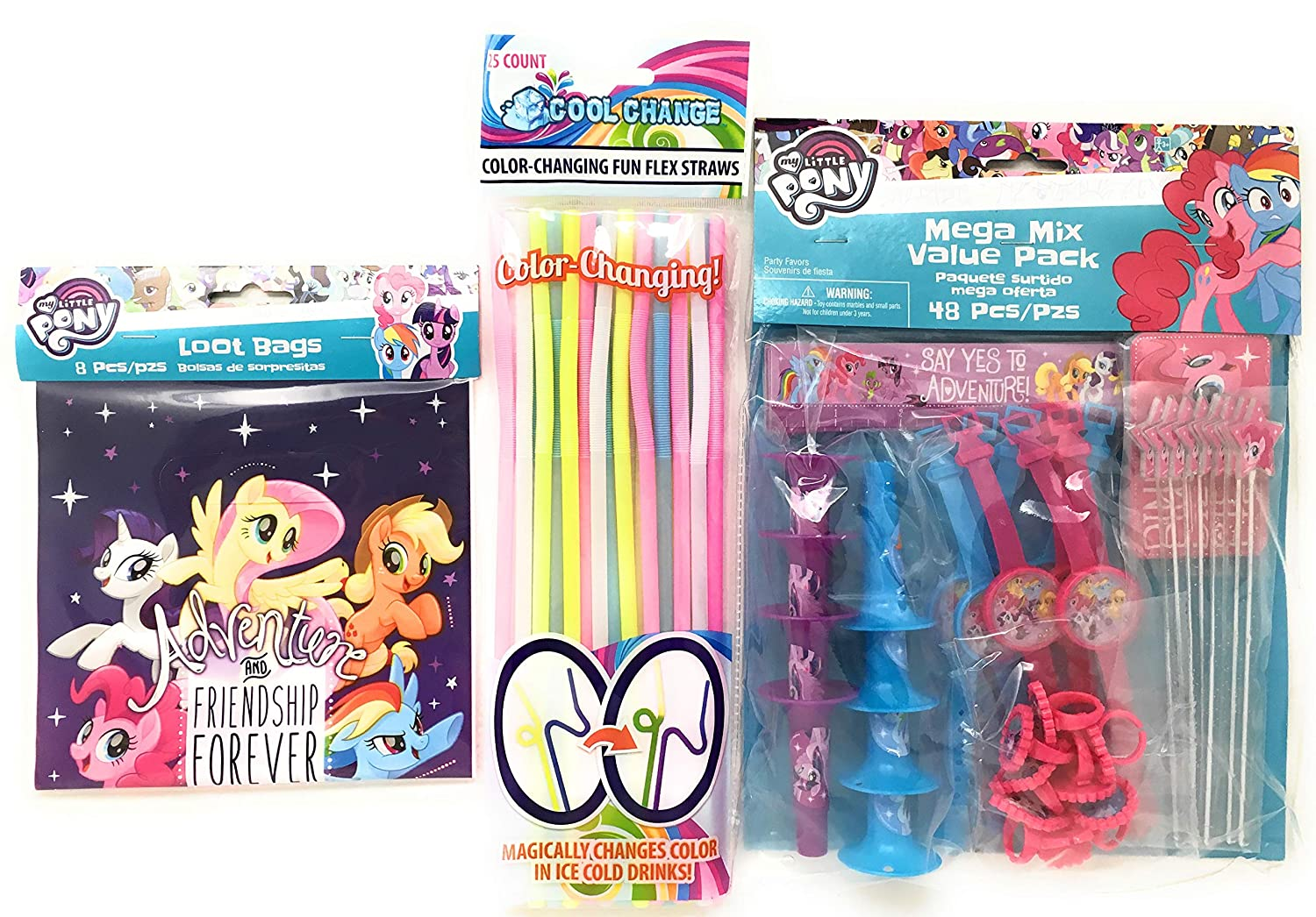 MY LITTLE PONY ERASERS STATIONERY SET Girls Stocking Filler PINKIE PIE Rubbers
