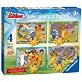 Ravensburger 7158 Disney The Lion Guard 4 in a Box Jigsaw Puzzles - 12, 16, 20, 24 Pieces
