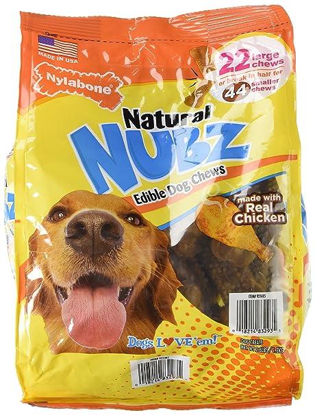 Nylabone Natural nubz Edible Dog Chews 22 CT. (2.6lb Bag) by